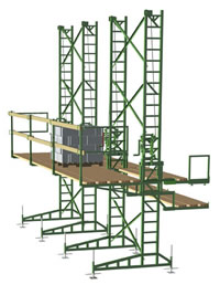 Non-Stop Scaffolding for sale or rent, masonry scaffolding
