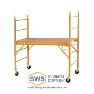 multipurpose baker scaffolding, great for interior projects, painters, drywall and more
