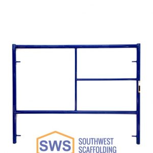 Half High Single Ladder Safeway Style Scaffolding Frame. Southwest Scaffolding sells and rents scaffolding, boards and accessories with nationwide delivery.