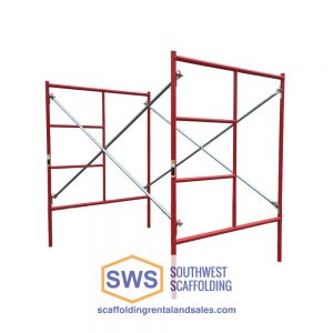 Set of Scaffolding | 5ft X 6ft 7in | W-Style | Ladder