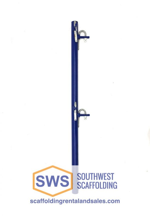 Guardrail Post for Scaffolding | 42″ | S-Style | Female | Corner | Candy Cane Lock