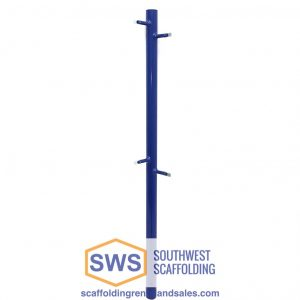 Guardrail Post for Scaffolding | 42″ | S-Style | Female | Corner | Drop Lock