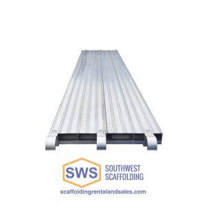 Aluminum Scaffolding Plank for Sale, Aluminum Decking, Aluminum Scaffold Board. Bolt-on ladder bracket to secure ladder to scaffolding. Safeway Style Walk Thru Stucco Scaffolding Frame. Southwest scaffolding sells scaffolding, boards and accessories nationwide.