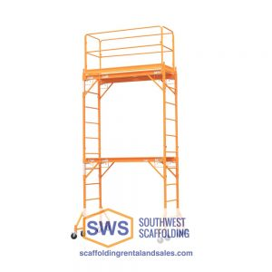 Multipurpose Interior Scaffolding Tower, residential scaffolding, bakers scaffolding, utility scaffolding. Southwest scaffolding sells scaffolding, boards and accessories nationwide.