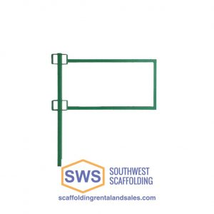 Laborers End Guardrail Panel for Non-Stop Scaffolding