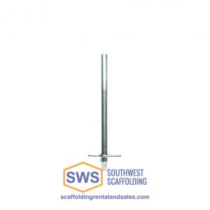 Screw Jack for Shoring Frames. Southwest scaffolding sells scaffolding, boards and accessories nationwide.