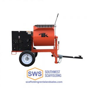 6 cubic foot TK mortar mixer for sale at Southwest Scaffolding