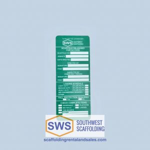 scaffold tag green tag for sale at southwest scaffolding