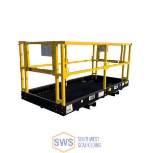man basket for forklift for sale or rent at Southwest Scaffolding